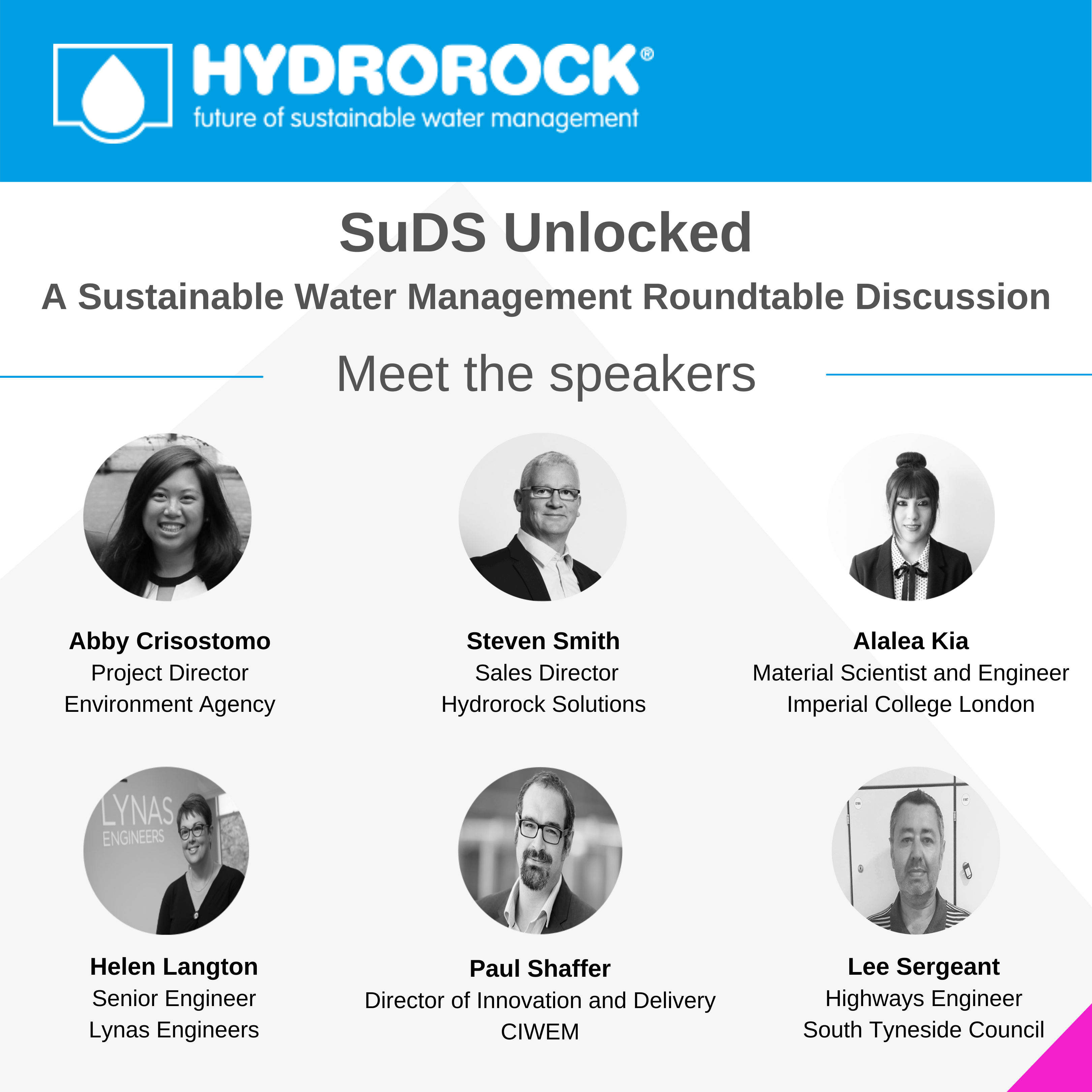 Hydrorock Podcast - meet the speakers